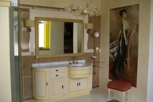 Un affresco realizzato da Mariani Affreschi all'interno di un ambiente bagno