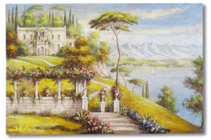 Affresco ritraente il Lago di Como