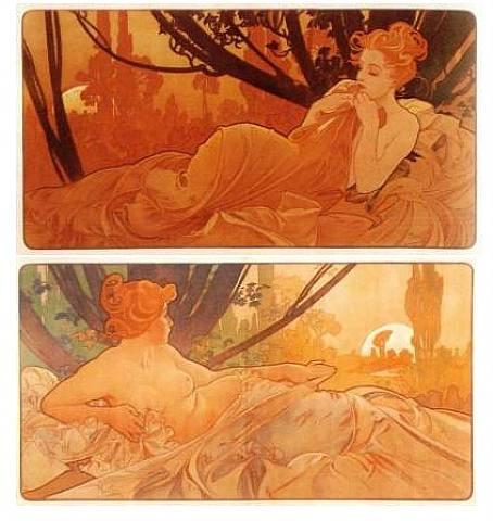 Un dipinto originale di Alfons Maria Mucha