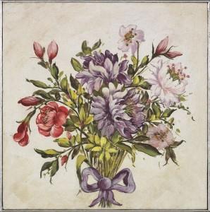 Fiori e profumo di primavera: le nuove tendenze in un affresco realizzato da Mariani