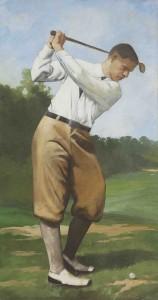 La passione per il golf in un affresco firmato Mariani