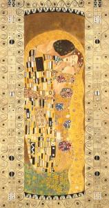 Una cornice decorata con la foglia oro impreziosisce e rende ancora più ricco l'affresco