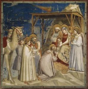Giotto, L'Adorazione dei Magi, Cappella degli Scrovegni, 1303-1305