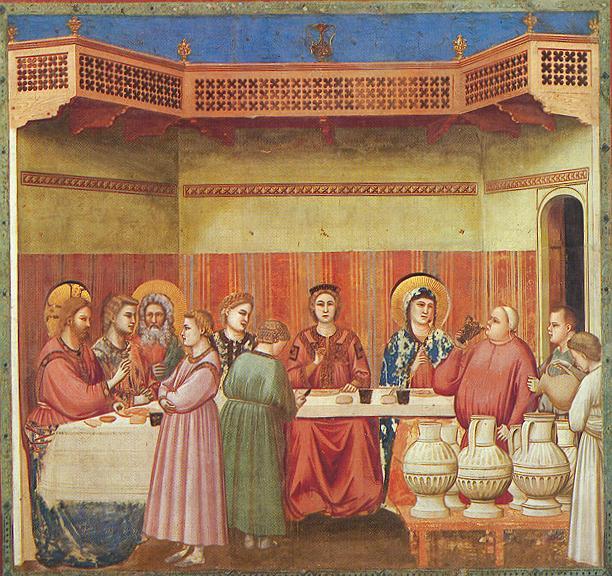 Giotto, Le nozze di Cana, Cappella degli Scrovegni, 1303-1305