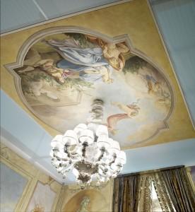 Una scena del Tiepolo in un affresco Mariani, un soggetto classico molto amato