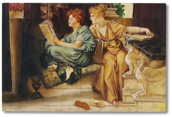 """""""Comparison"""" di Alma Tadema in un affresco realizzato da Mariani"""