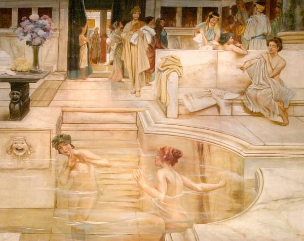 Candide e leggere le donne di Alma Tadema in un bellissimo affresco firmato Mariani