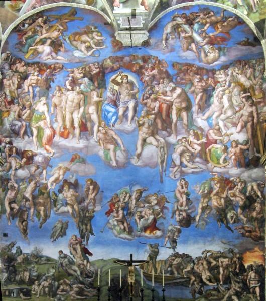 Il Giudizio universale, affresco di Michelangelo nella Cappella Sistina