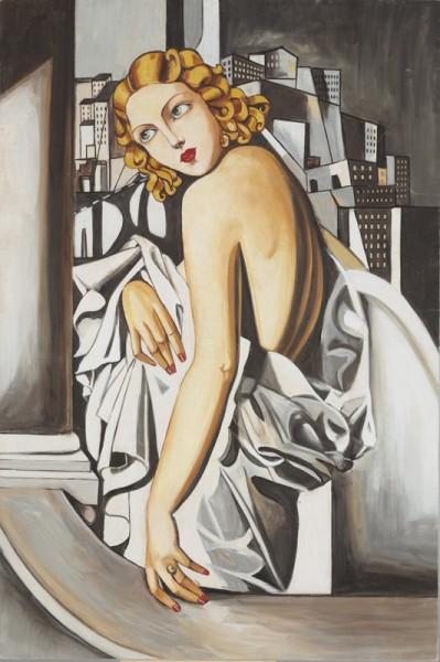 Un ritratto realizzato da un'artista di Mariani Affreschi ispirato al Portrait de Marjorie Ferry Tamara de Lempicka (1898-1980)