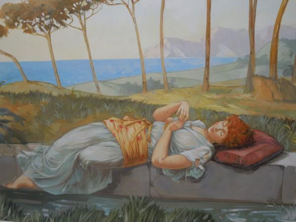 Per la realizzazione dei dipinti nella spa e centro benessere Marisa Borghi hanno lavorato quattro diversi artisti di Mariani