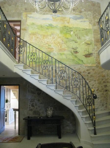 Un affresco ispirato ad antiche mappe della città di Barcellona