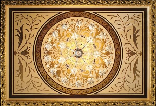 Il prezioso soffitto decorato in foglia oro by Mariani Affreschi