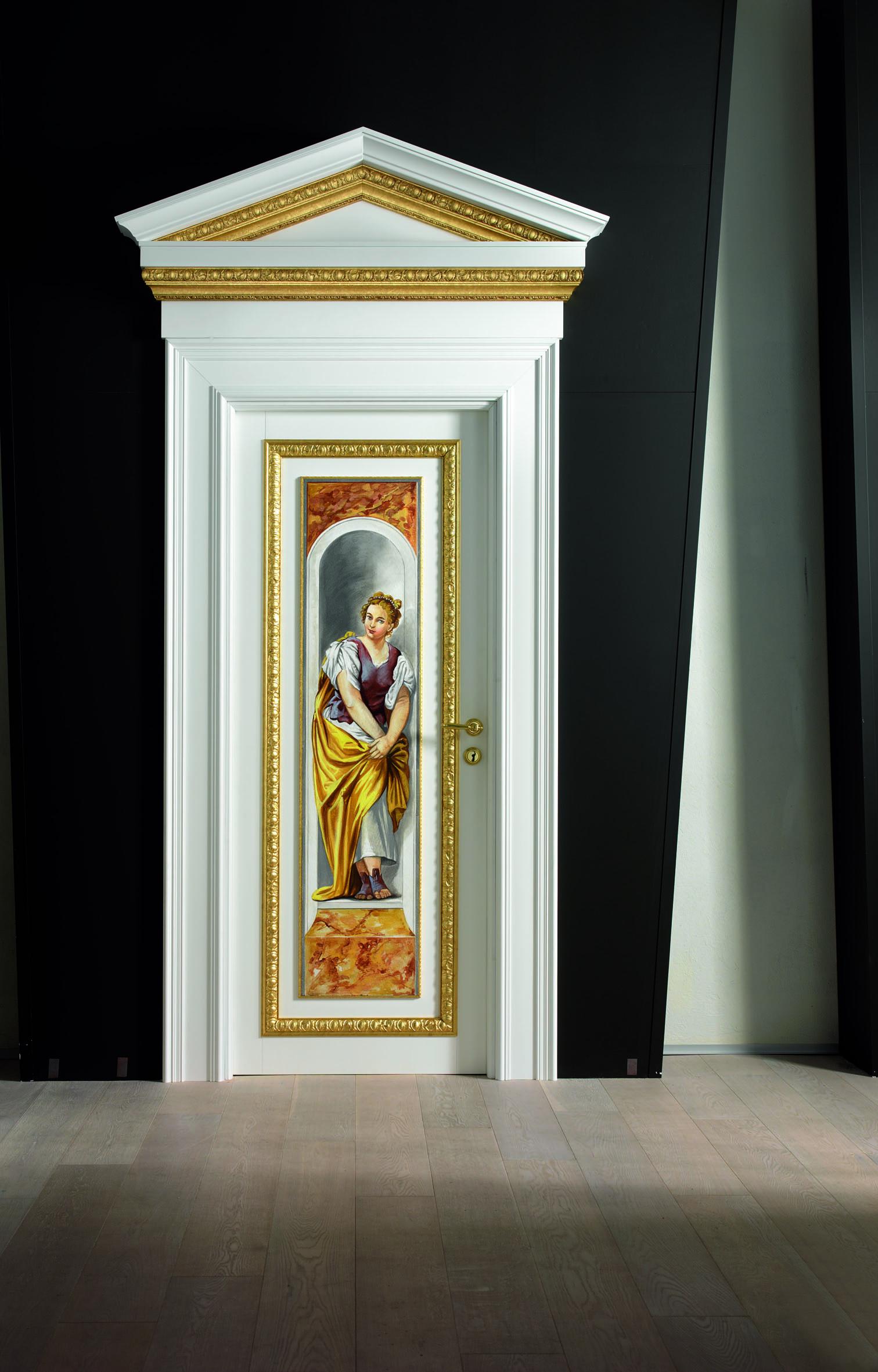 Tutta l'eleganza e la bellezza della porta Giotto, l'opera ad affresco si può eventualmente utilizzare separatamente come quadro