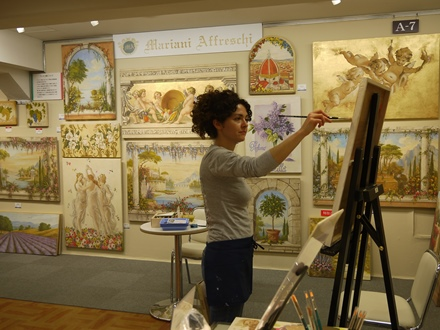05-artista-mariani-affreschi-dimostrazione-mitsukoshi.nihombashi