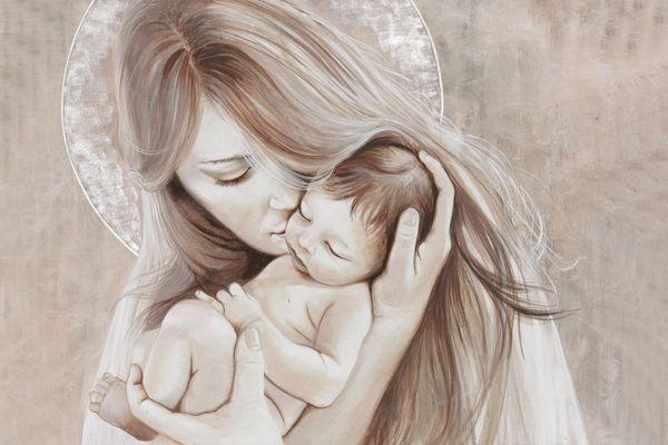 Una maternità moderna: gli affreschi Mariani possono essere personalizzare nelle misure, nelle finiture e nei soggetti
