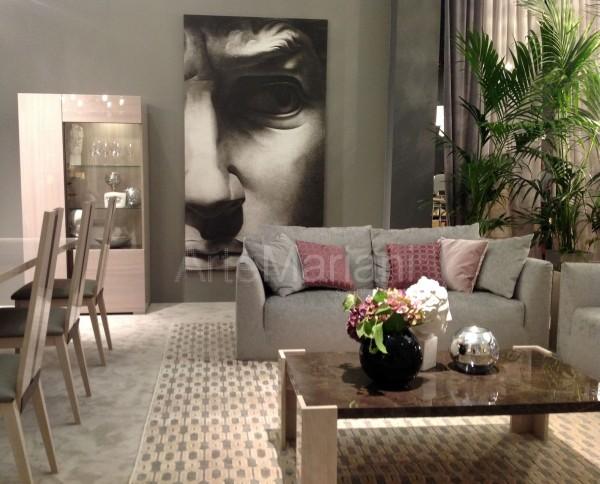 """""""Профиль мужчины"""" от от ArteMariani. На фото интерьеры стенда фабрики Alf Italia Arredamenti на Salone del Mobile"""