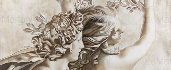 Apollo e Dafne, l'incontro d'amore ispirato alla scultura del Bernini rivive nell'affresco creato dai abili maestri d'arte Mariani
