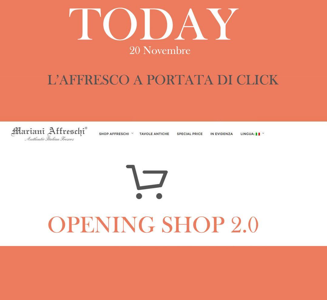 Evento 2.0 per l'inaugurazione dello shop online