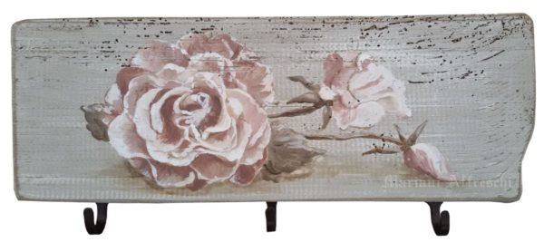 A romantic rose features in this original Art-Hanger by Mariani Affreschi