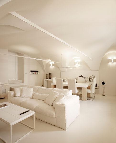 italian frescos - blog | un arredo total white per i quadri ... - Soggiorno Total White