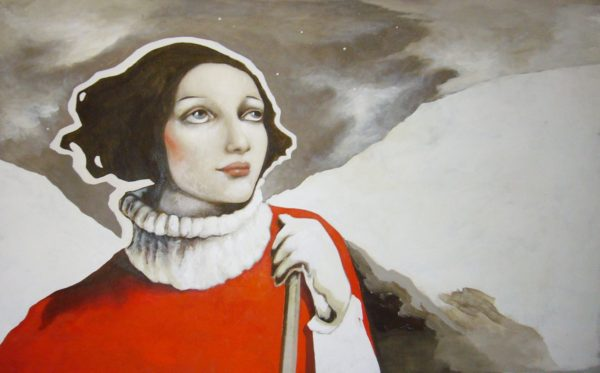 Affresco riprodotto dall'opera Saint Moritz – Tamara de Lempicka