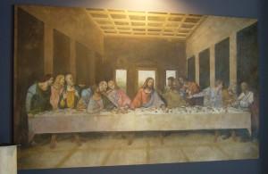 L'ultima cena realizzata da un'artista di Mariani Affreschi esposta ad Abitare Il Tempo 2009