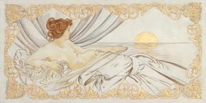 Un'altra interpretazione di un dipinto del Mucha realizzata da un'artista di Mariani Affreschi