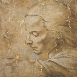 Uno splendido affresco di Mariani basato su una riproduzione di un soggetto di Michelangelo