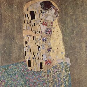 """Gustav Klimt, """"Il Bacio"""", dipinto a olio su tela"""