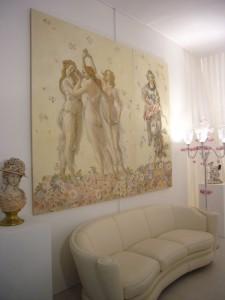 """Un'opera realizzata da Mariani Affreschi esposta durante """"Casa in Fiore"""" alla fiera Macef 2010"""