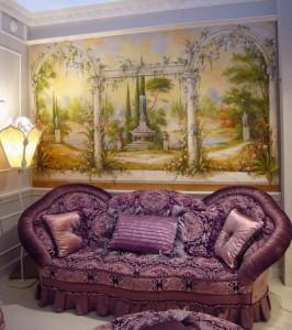 Uno splendido paesaggio firmato Mariani ambientato in un salotto