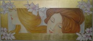 Le dame e i fiori del Mucha in un affresco firmato Mariani