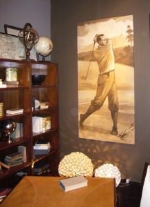 Per chi ama il golf un affresco che si ispira ai giocatori degli anni Venti realizzato da Mariani Affreschi