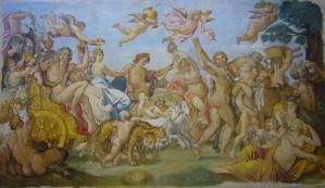 L'opera finita: uno splendido lavoro realizzato con grande maestria artigianale dalla fucina di Mariani Affreschi