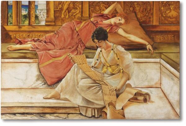 """""""Il poeta preferito"""" di Alma Tadema in un affresco di Mariani"""