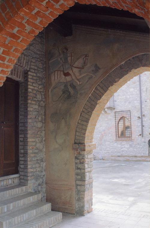Alcune opere in stile medievale realizzate da Mariani Affreschi al Castello di Montalfeo di Pavia