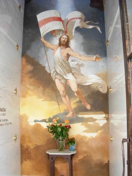 """Nell'immagine un'opera raffigurante """"Cristo Risorto"""" realizzata da uno dei pittori di Mariani Affreschi"""