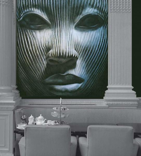 Si ispira a una statua votiva africana questa splendida opera realizzata da un artista di Mariani per la nuova collezione