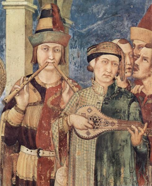 Investitura di San Martino (dettaglio dei musici), Cappella di San Martino, Basilica inferiore di san Francesco d'Assisi