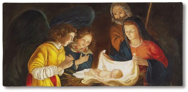 """Buon Natale a tutti con """"L'adorazione"""" di Gherardo delle Notti (1590-1656) in un affresco firmato Mariani"""