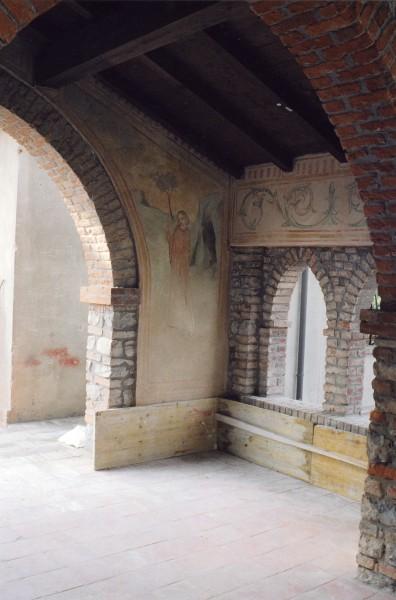 Castello di Montalfeo, Pavia: realizzazione di affreschi in loco in stile medioevale.
