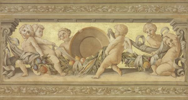 Angeli con finitura in foglia oro, un pezzo di Mariani Affreschi