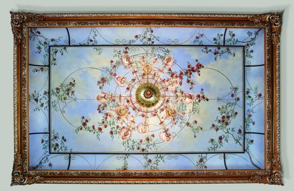 Un cielo di fiori in un soffitto pieno di poesia by Mariani Affreschi