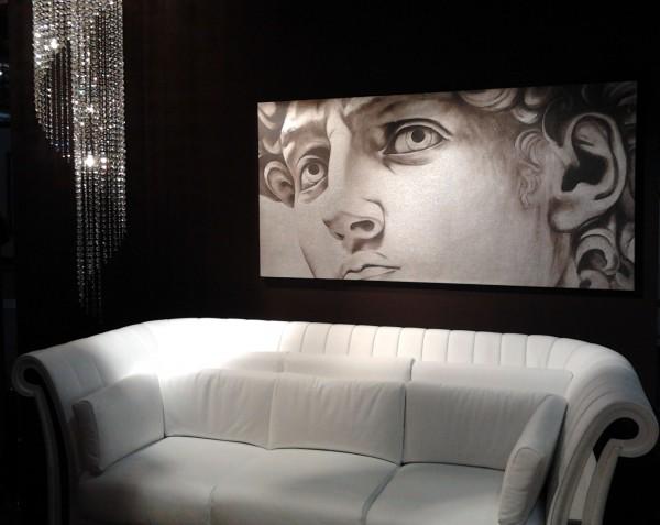 Il David, by ArteMariani, nell'allestimento dell'azienda Florence Collections al Salone del Mobile 2012