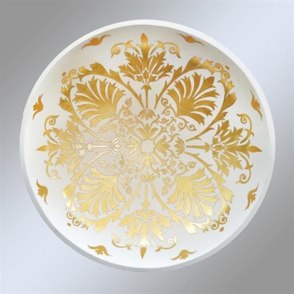 Rosone finito in foglia oro, uno dei modelli decorativi più classici e lussuosi