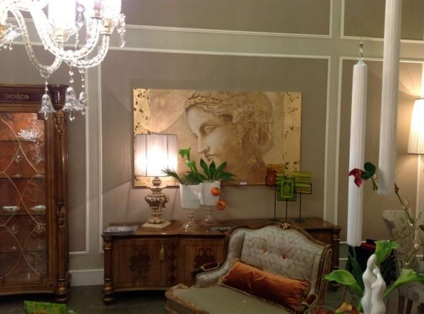 """""""Athena"""" (art. 2374), affresco autentico della collezione Mariani Affreschi, presso lo stand di Fratelli Bianchini"""