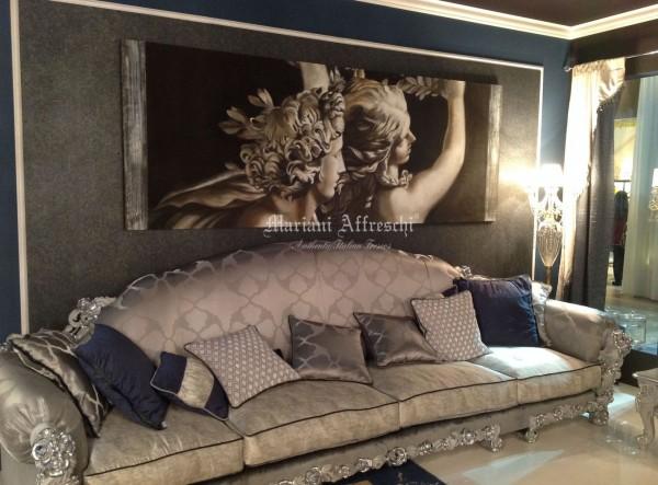"""""""Apollo e Dafne"""", un'opera della collezione ArteMariani. In questo scatto decora con personalità lo stand di Morello Gianpaolo (Gruppo d'Arte)"""