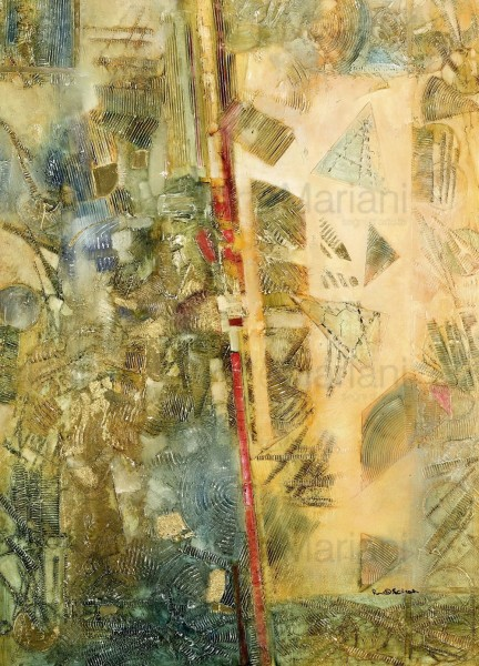 Divergenze, un'opera di Ron in cui astrattismo e sperimentazione si fondono e danno vita a un lavoro intenso e contemporaneo