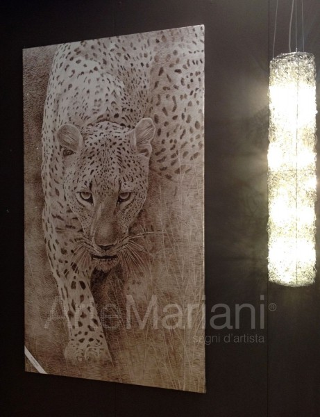"""""""Леопард"""" в версии росписи на серебряной патали, популярное произведение из коллекции ArteMariani"""
