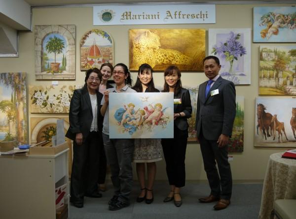 L'esposizione di Mariani Affreschi per l'evento giapponese che rende omaggio alle eccellenze dell'artigianato artistico made in Italy